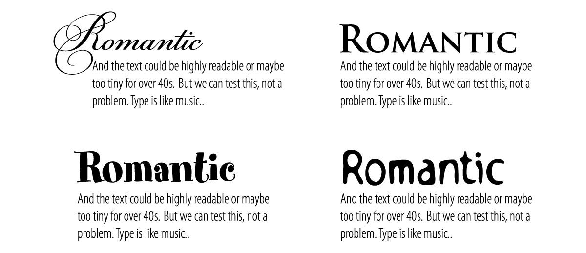 font pairing for book design sample